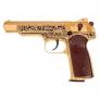 Druckluftpistole APS Stetschkin 4,5 mm CO2 Gold mit BlowBack Funktion