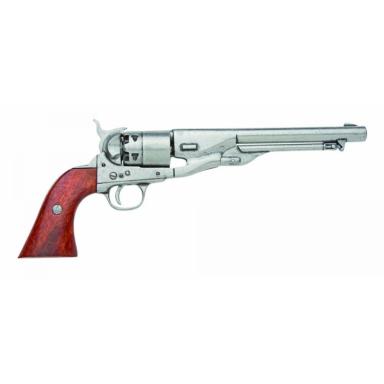 Dekowaffe Colt Modell Navy 1861, silberfarben Decowaffen