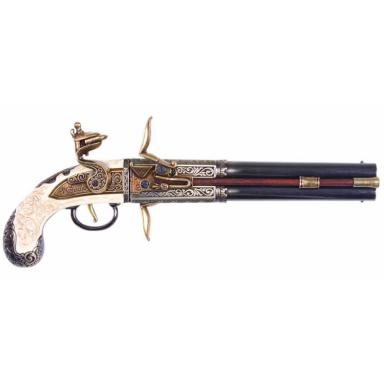 Dekowaffe Doppellaufpistole mit drehbarem Lauf Decowaffen
